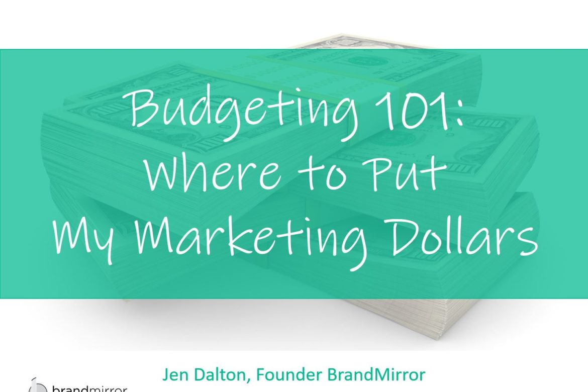 Budgeting 101: Where to Put My Marketing Dollars